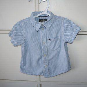 3/$20 Toddler boy striped dress shirt 18 months